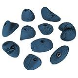 ALPIDEX 10 Traumhafte Sloper Klettergriffe, Farbe:blau-meliert