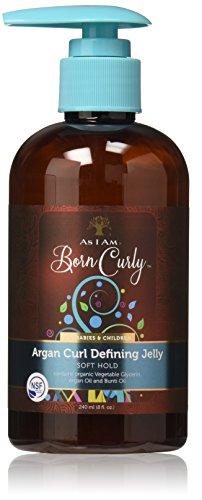 Definidor de rizos Argan Curl Denining Jelly. Fijación suave. Certificado orgánico.