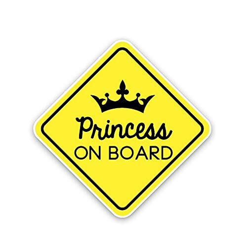 Etiqueta engomada del coche de color 14.5cm X 14.5cm Princesa a bordo Decal Pegatina de coche divertida PVCステッカー 12-40462 Logo sticker
