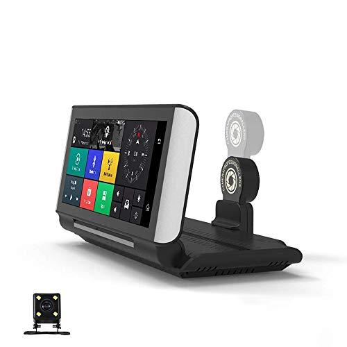 La grabadora de conducción de navegación 4G de la consola de 7 pulgadas, el video de doble lente de 1080p, la rotación de 180, la detección de colisiones, la conexión WiFi puede conectarse a teléfonos