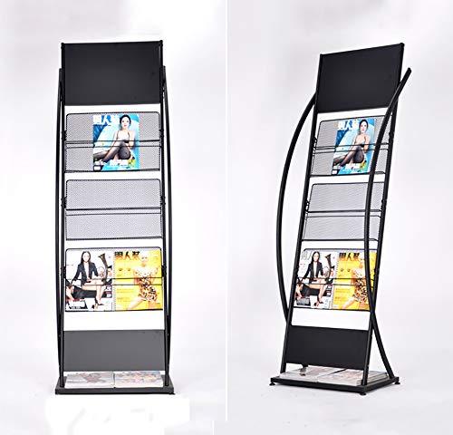 TINE stor mobilbroschyr visningsställ med 3 hyllor metall nät tidningsställ fil tidningshållare fristående tidskriftsbokstäver förvaring display för tidningar nyhetsbrev korsorder