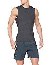 Under Armour Heatgear Armour Compressieshirt, functioneel shirt voor heren, mouwloos; comfortabele tanktop met compressiepasvorm