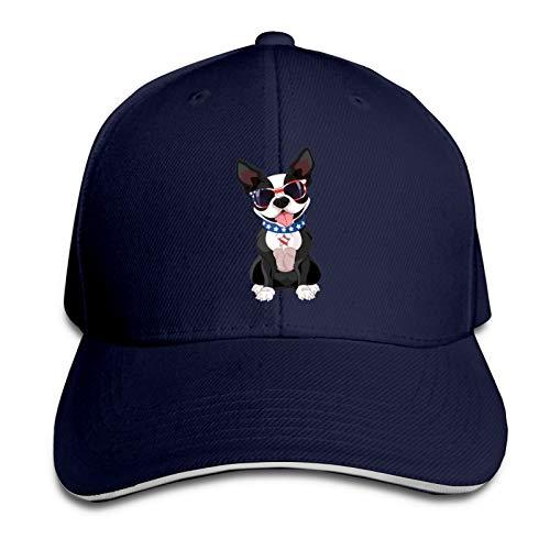 Teesobunny French Bulldog Baseball Cap, Adjustable Snapback Sandwich Caps, Dad Hat