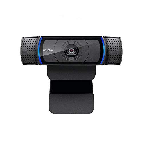 NO LOGO JIAXIAOYAN 1080P HD Video Cámara Web - 98-Grado Extended View, Enfoque automático, estéreo del Sonido Natural, Azul Correr Indicador Reunión de Difusión de Video en Vivo