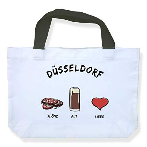 Einkaufstasche Düsseldorf: Flönz-Alt-Liebe - als Geschenk für Düsseldorfer & Fans der Metropole am Rhein oder als Düsseldorf Souvenir - die stadtmeister