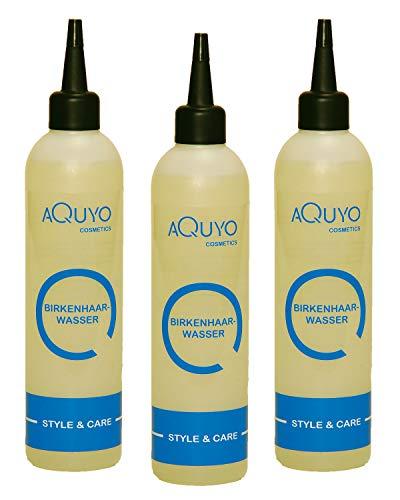 Birkenhaarwasser für trockene Haare und empfindliche Kopfhaut (3er Pack - 3x 200ml) | Birkenwasser gegen Schuppen und fettige Haare | Haarwasser zur Kopfhautpflege