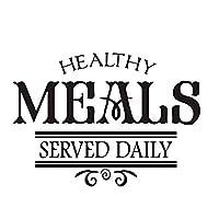 ウォールステッカー健康食品サービス毎日のアートアップリケDiy防水ステッカーMuraux取り外し可能なPvcアップリケレストランポスター家の装飾82 * 58Cm