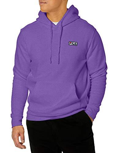Fila Algot Fleece Hoodie Sudadera con Capucha, Violeta - Electric Purple, XL para Hombre