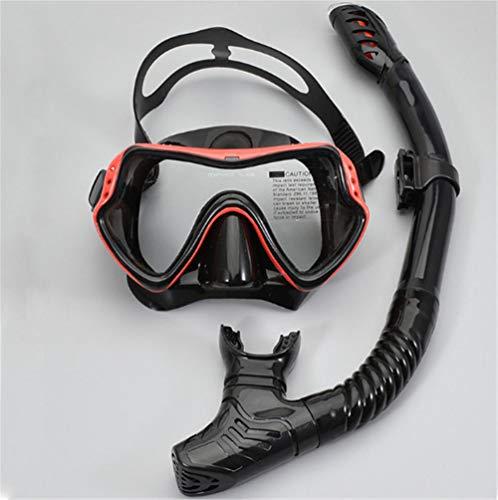 Generieke HRTCDE Dry snorkelset snorkelmasker, eersteklas volwassenen snorkel duikset met duikbril en anti-lek anti-condens duikmasker