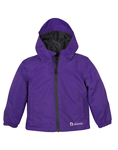 OAKI Kids Core Rain Jacket, Galaxy Purple 3T