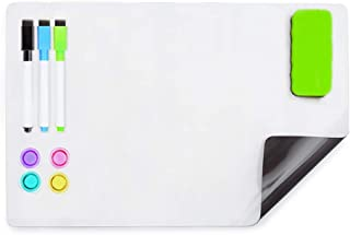 HAND IN HAND Dry Erase Board Sheet Fridge Magnetic Soft Whiteboard for Refrigerator, Home, Office, School (304 X 288 MM)