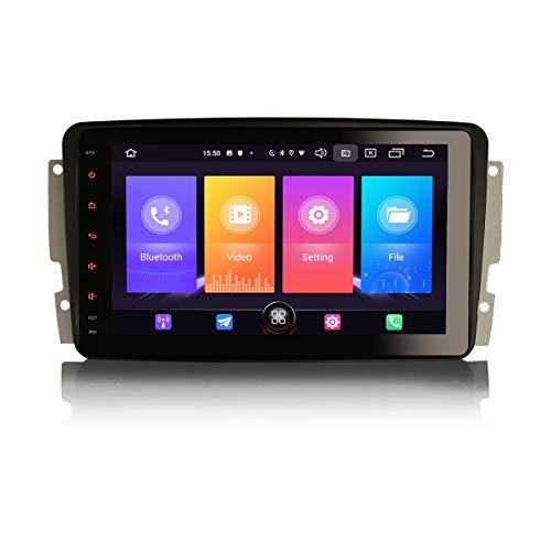 Erisin Android 10.0 8'Autoradio per Mercedes Benz Classe C/CLK/G Viano Vito W203 S203 C209 W209 W639 W463 Supporto DAB + Navi Carplay Android Auto Bluetooth WiFi A2DP 4G FM/AM DVB-T2