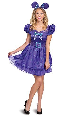 Disguise Disfraz de Minnie Mouse de Disney para mujer, color morado, talla M (8-10)