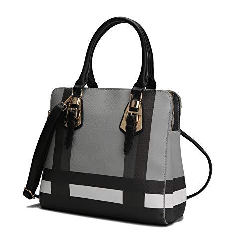 MKF Crossbody Tote Bag for Women - Handbag Purse Shoulder Strap - Top Handle Lady Satchel PU Leather Pocketbook Black