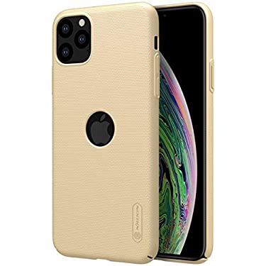 """Nillkin Case for Apple iPhone 11 Pro Max (6.5"""" Inch) Super Frosted Hard Back Cover PC with Logo Cut Gold Color"""