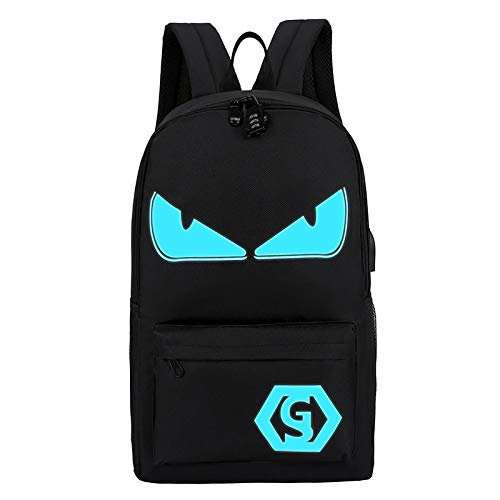 Leuchtende Rucksack Mit USB Computer Tasche Männlich Business Casual Anime Student Schultasche Kleiner Teufel 29 * 18 * 46Cm