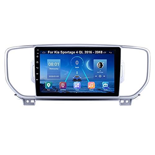 Autoradio Mit Navi Car Stereo Radio Coche Pantalla Tactil Coche GPS Navegación Para Kia Sportage 4 QL 2016-2018 Conecta Y Reproduce Cámara De Respaldo Estéreo De Coche Auto Dvd Player