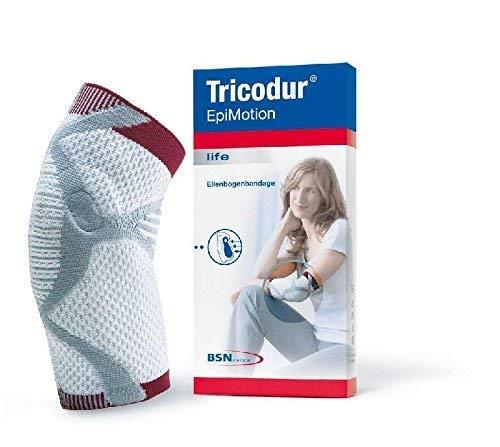 Tricodur EpiMotion Ellenbogen Bandage weiß/grau Gr. M(BSN), Ellenbogenbandagen