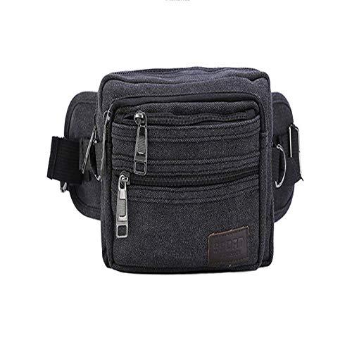 KDJDH Outdoor-Sporttaschen New Canvas Brusttasche Männer Multi-Funktions-Anti-Diebstahl-Änderung Handytasche schwarz OneSize
