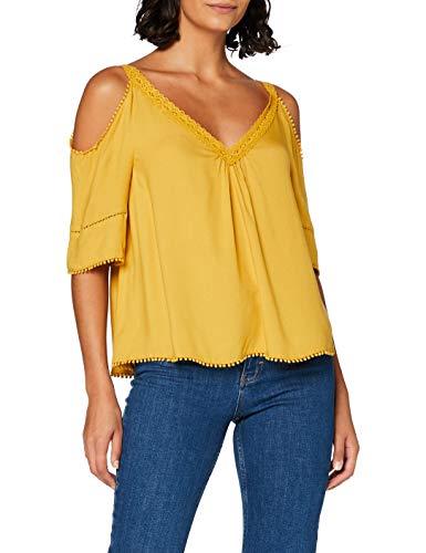 Springfield Damen 5.pc.top Offshoulder-c/04 Bluse, Gelb (Yellow 4), 36 (Herstellergröße: 38)