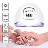 Secador del clavo, clavo profesional 120W LED UV lámpara secadora cura la lámpara rápido for uñas del gel y del dedo del pie de curado de uñas con el sensor automático (blanco) SYLOZ