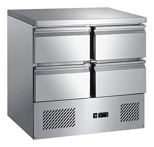 Kühltisch 4 Schubladen Arbeitstisch Kühlschrank Vorbereitungstisch Pizzatisch Gewerbe Gastronomie