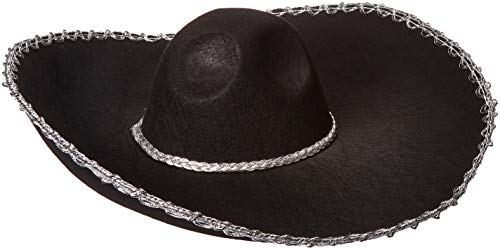 Forum Novelties Men's Adult Oversized Sombrero Costume Hat, Black, One Size