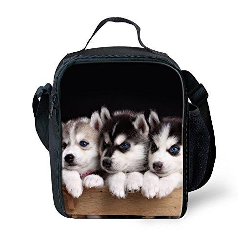 HUGS IDEA niedliche Lunch-Tasche mit Tiermotiv Casual Husky