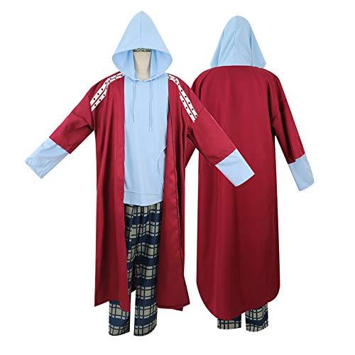 Costume Cosplay Thor per Uomini Grassi Adulti, Abito Casual con Cappuccio, Costumi Natalizi per Adulti Unisex, Set Completo per Carnevale di Halloween