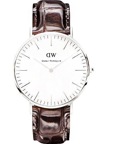Daniel Wellington Herren-Armbanduhr XL York Analog Quarz Leder 0211DW