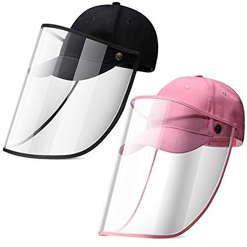 SATINIOR 2 Pezzi Berretto da Baseball Integrale per Bambini Cappello Protettivo Unisex Cappellino di Protezione Staccabile con Visiera Rimovibile per attività all'Aperto
