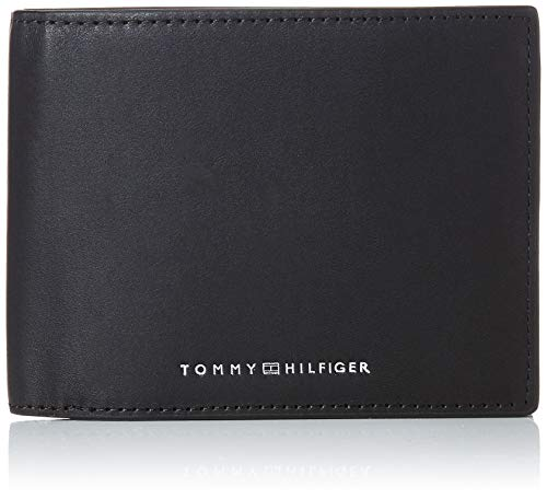 Tommy Hilfiger TH Metro, Accesorio Billetera de Viaje para Hombre, Black, Talla única