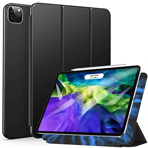 ZtotopCase Magnetic Case for iPad Pro 11 2020, Ultra Slim Smart Magnetic Back,Trifold Stand Protective Cover with Auto Wake/Sleep for 2020 iPad Pro 11 inch, Black