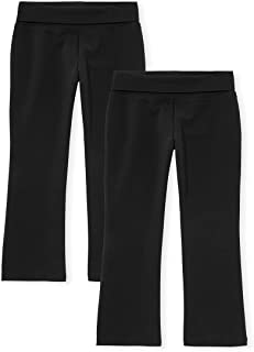 The Children's Place girls Girls Uniform Foldover Waist Pants 2-Pack Pants