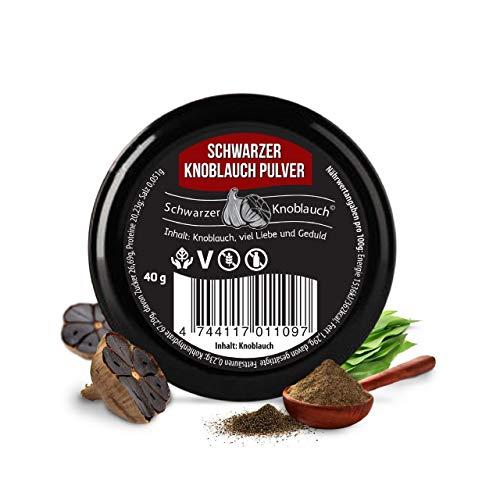 Aglio nero biologico in polvere - vegano, fermentato, ad alte dosi, certificato naturale - aglio nero ecologico fermentato - prodotto in Scandinavia