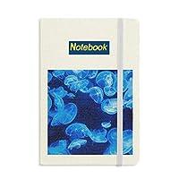 ディープブルークラゲ科学は自然の海 ノートブッククラシックジャーナル日記A 5