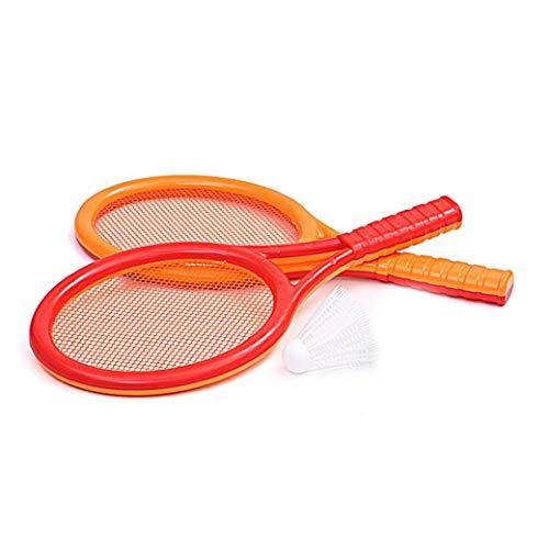 Homiki Los niños juegan Juegos de Naranja de plástico Rojo de Tenis Raqueta de bádminton Conjunto de Juguete Equipo de la Aptitud