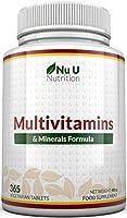 Integratore Multivitaminico e Multiminerale | 365 Compresse (Fornitura Fino A 1 Anno) | 24 Vitamine e Minerali per...