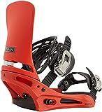 BURTON Cartel Mens Snowboard Bindings Sz M (8-11) Bright Red