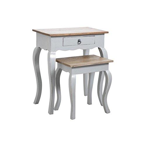 Inconnu Aubry Gaspard MTN 114 S Tables gigognes en Bois Gris Antique