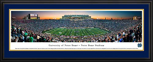Notre Dame Football - 44x18-inch Double Mat, Deluxe Framed Picture covid 19 (Double Framed Photograph coronavirus)