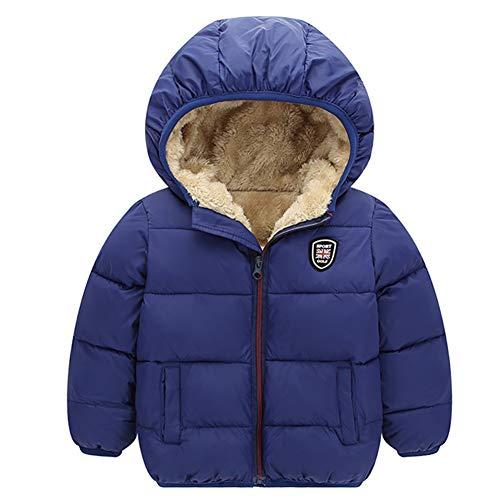 Miyanuby Chaqueta De Abrigo con Capucha para Bebé Niños Niñas Abrigo De Invierno Cálido Grueso para Bebé Niños Niñas De 2 A 7 Años