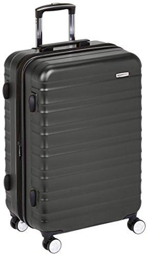 Amazon Basics - Maleta rígida de alta calidad, con ruedas y cerradura TSA incorporada - 68 cm, Negro
