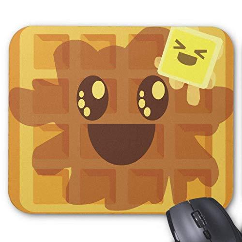 Muismat, Gaming Mouse Pad Grote Grootte 300x250x3mm Dikke Kawaii Wafel Boter & Esdoorn Siroop Ontbijt Verlengde Muis Pad Antislip Rubber