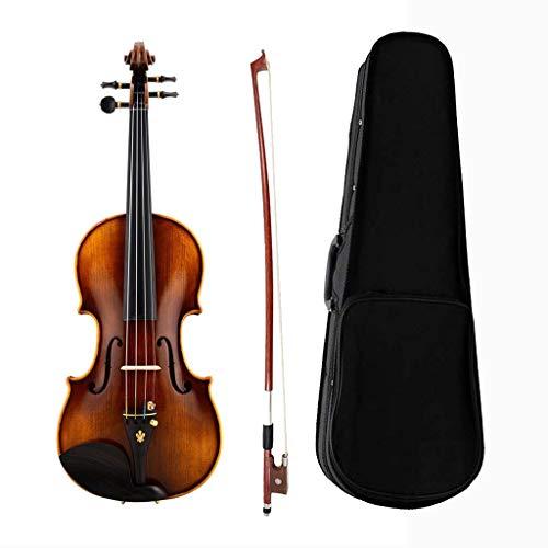 Viool massief hout professionele noten massief houten accessoires snaren instrumenten voor beginners geschenken verzendtas