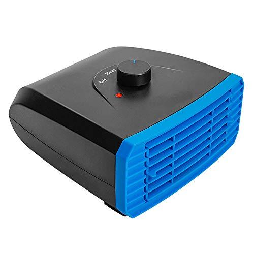 ZXlife @ Sneeuwmaker DC, 12 V/DC 24 V, 2-in-1, draagbare warmtestraler eenvoudig te installeren, koeling en snel opwarmen, voor alle soorten auto/vrachtwagens 24V Blauw