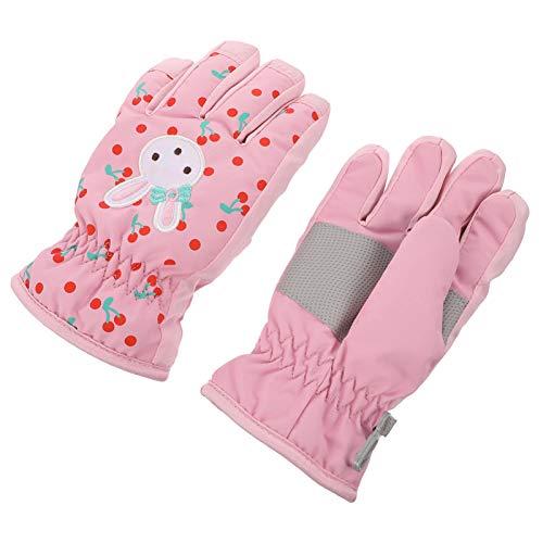 SOIMISS 1 Paar Kinder Skihandschuhe Mädchen Skihandschuhe Kleinkinder wasserdichte Warme Schneehandschuhe für Winter-Outdoor-Aktivitäten (Pink S)