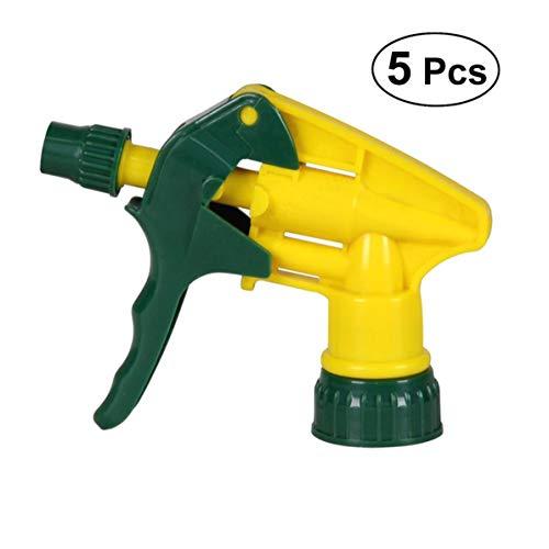 SALAKA 5 Stück Heavy Duty Industrie-Trigger Sprüher chemikalienbeständig geringe Ermüdung für Auto Garten Detailing Hausmeisterschaft