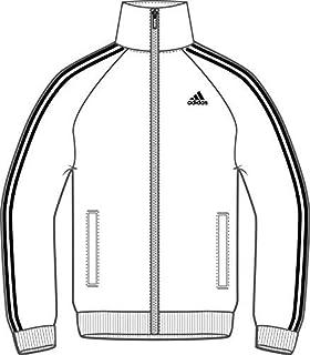 adidas Men's Essential Tricot Jacket 3 Stripes, White/Black Stripes