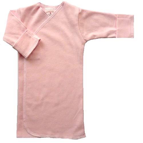 【未熟児】【低出生体重児】【早産児】【NICU】用 ベビー服:長袖長肌着 ピンク (1400〜2500g)